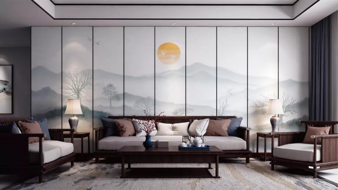 品格高端顶墙:新中式,优雅演绎新时代美学!