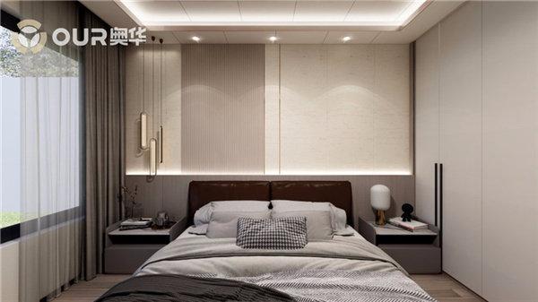 三个卧室的设计都采用的极简风