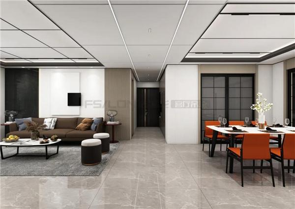 160m² 四室两厅【集成吊顶】现代轻奢设计
