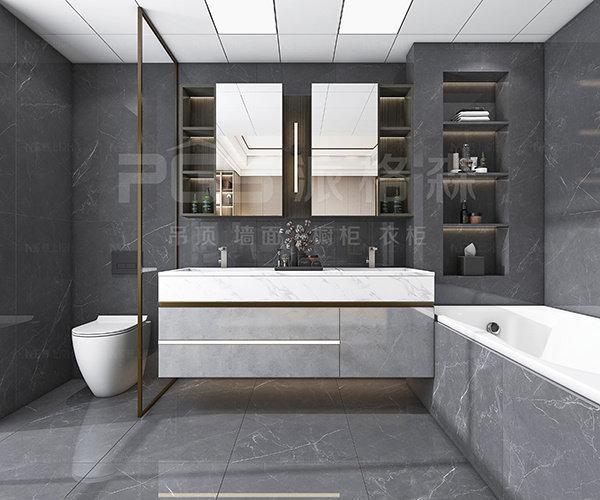 卫生间采用了干湿分离设计
