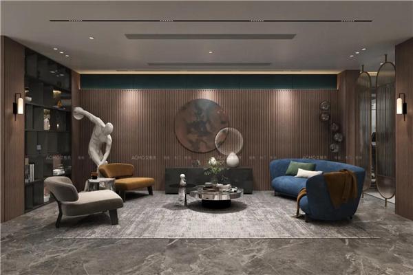 顶墙装修案例 | 现代轻奢大宅, 演绎复古时髦的高级质感