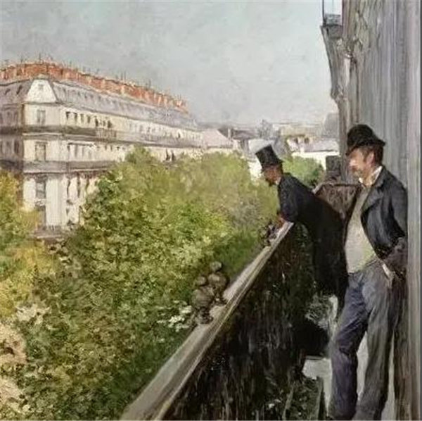 巴黎大街上豪斯曼的阳台