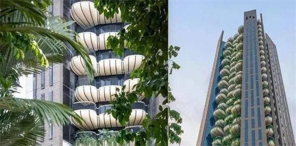 用阳台模糊塔楼外观 改变住户生活习惯