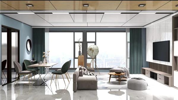 顶墙装修案例丨舒适又有品,这样的盐系风格你不爱?